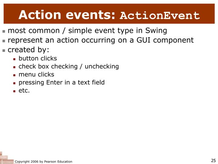 Action events: