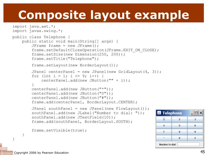 Composite layout example