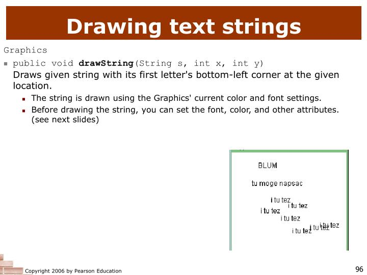 Drawing text strings