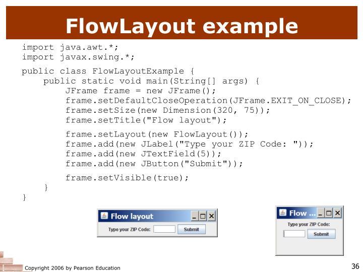 FlowLayout example