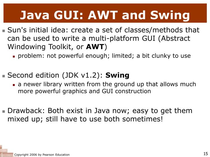Java GUI: AWT and Swing