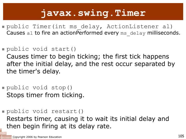 javax.swing.Timer