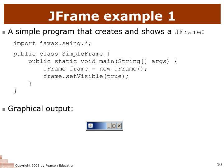 JFrame example 1