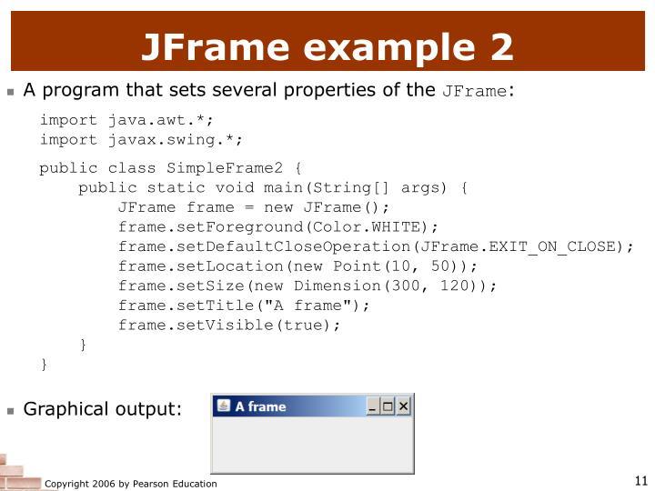 JFrame example 2
