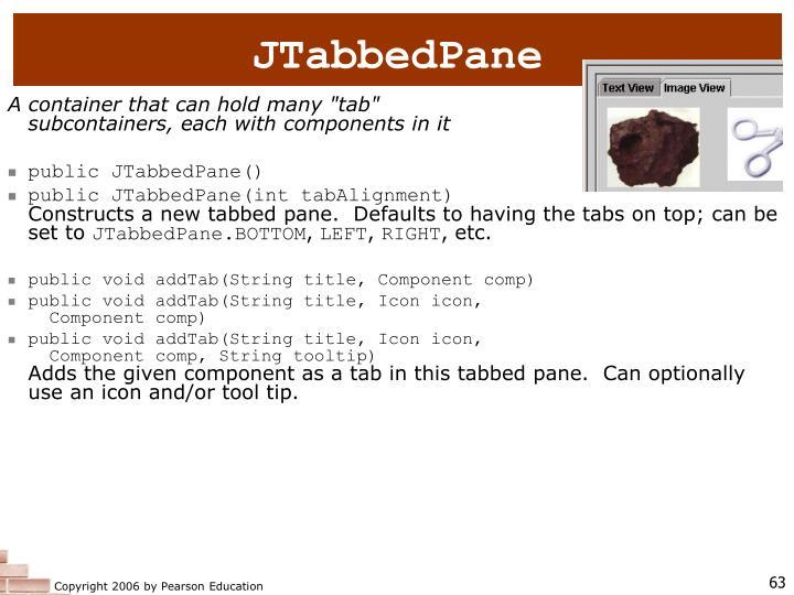 JTabbedPane