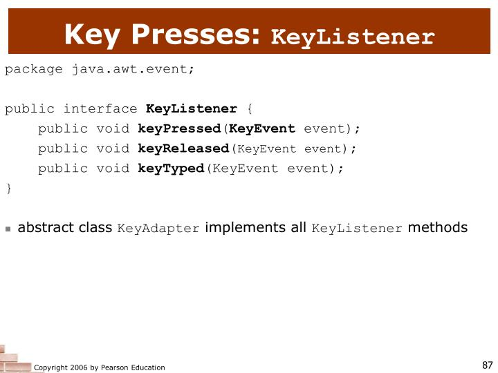 Key Presses: