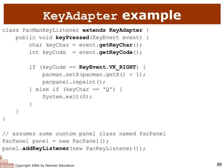 KeyAdapter