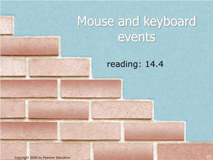 Mouse and keyboard events