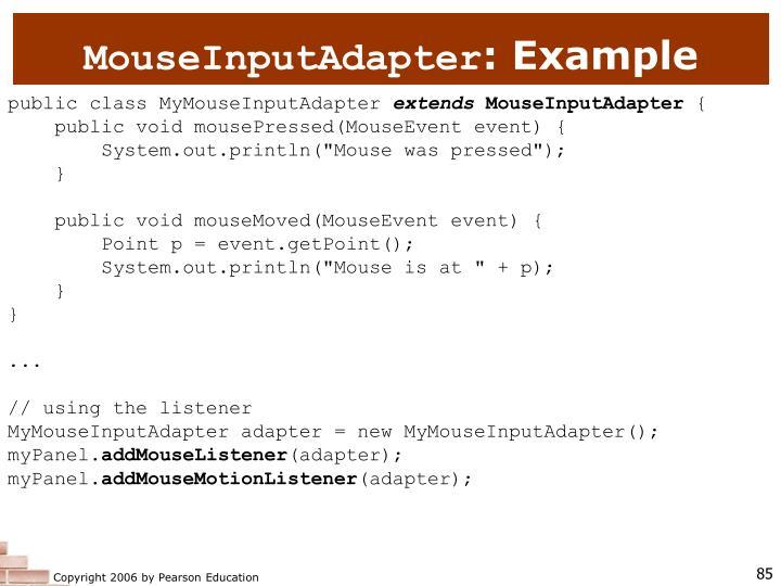 MouseInputAdapter