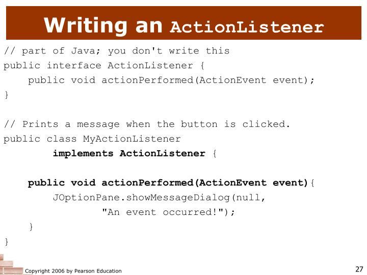 Writing an