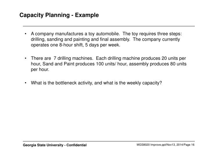 Capacity Planning - Example