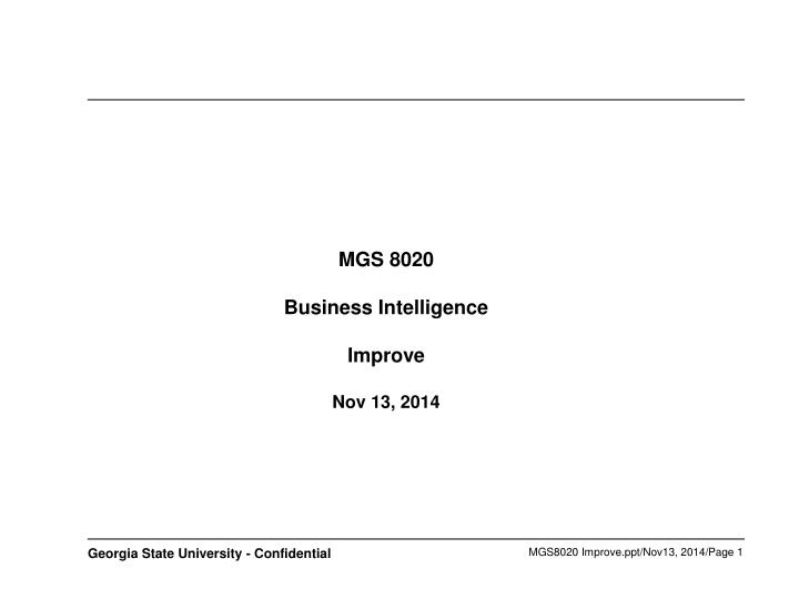 Mgs 8020 business intelligence improve nov 13 2014