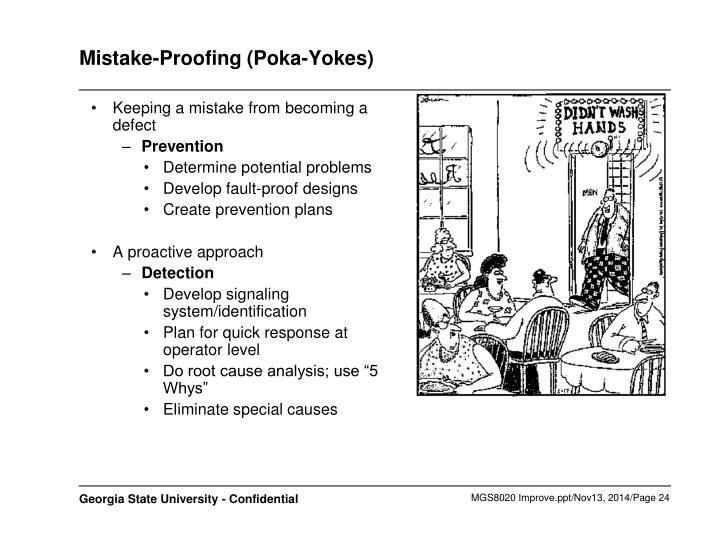 Mistake-Proofing (Poka-Yokes)