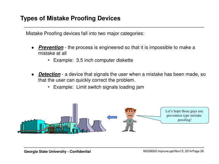 Types of Mistake Proofing Devices