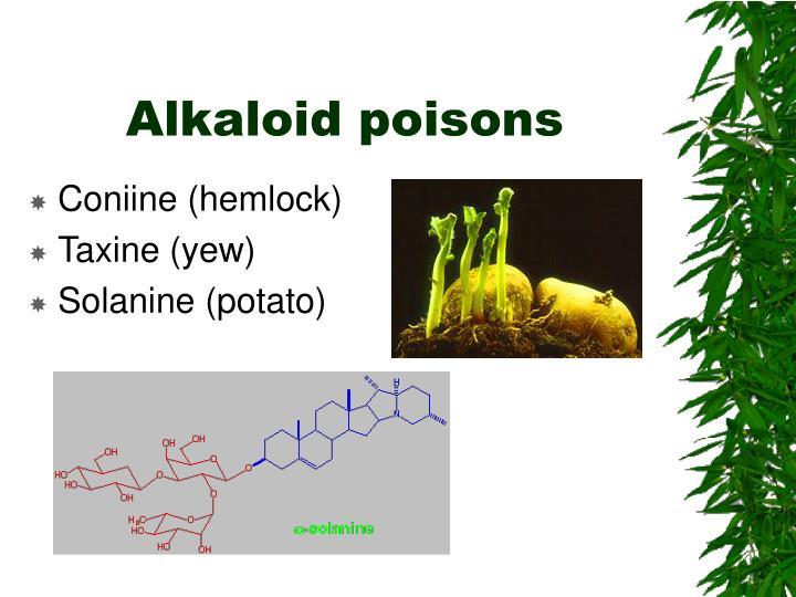 Alkaloid poisons