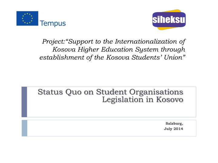 "Project:""Support to the Internationalization of"