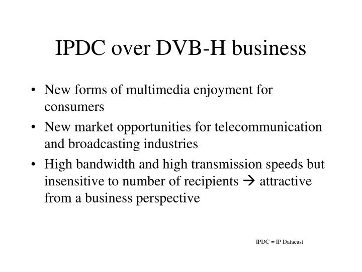 IPDC over DVB-H business