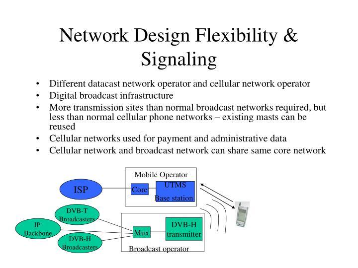 Network Design Flexibility & Signaling