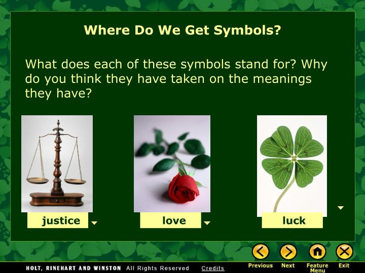 Where Do We Get Symbols?