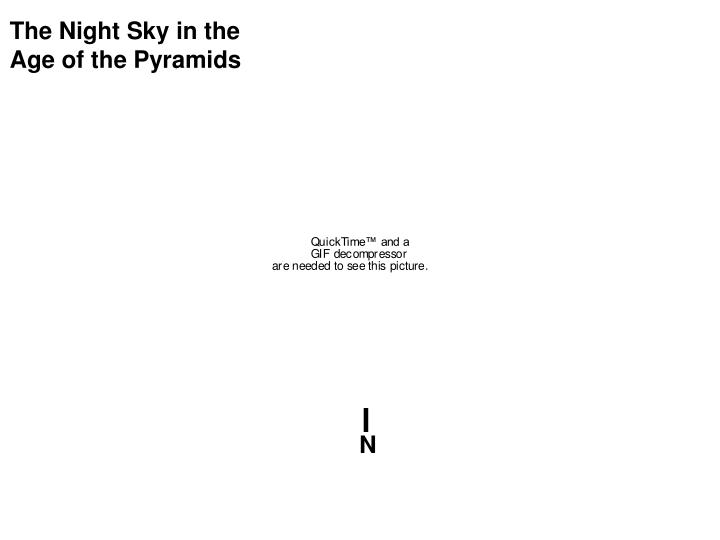 The Night Sky in the Age of the Pyramids