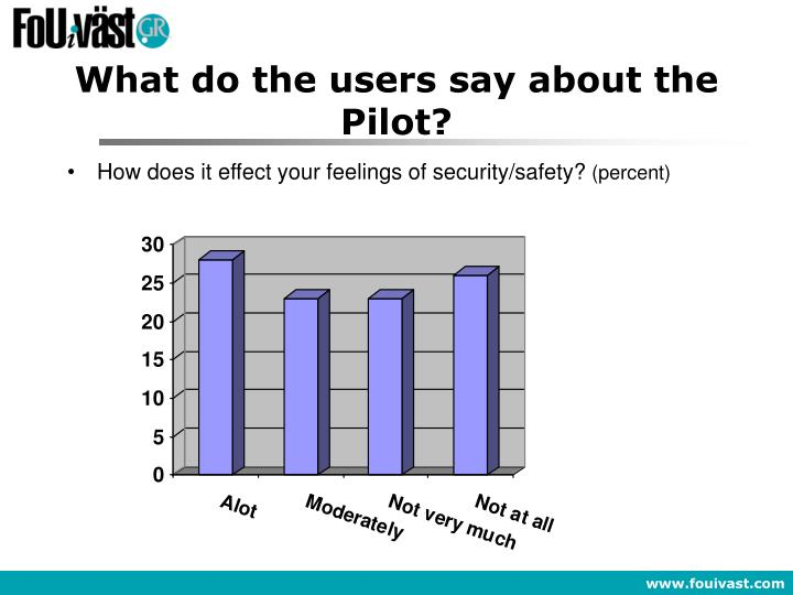 What do the users say about the Pilot?