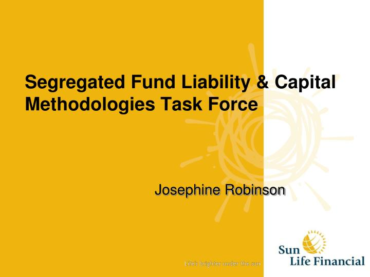 Segregated fund liability capital methodologies task force