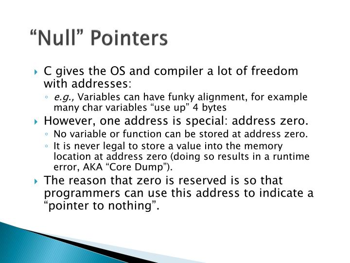"""Null"" Pointers"