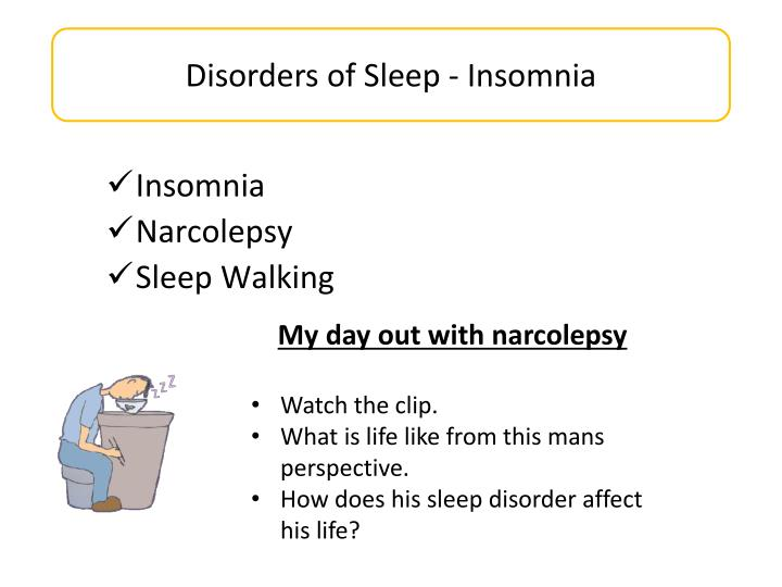 Disorders of Sleep - Insomnia