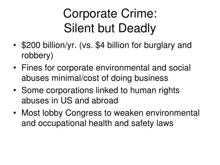 Corporate Crime: