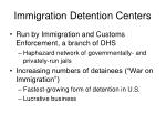 immigration detention centers