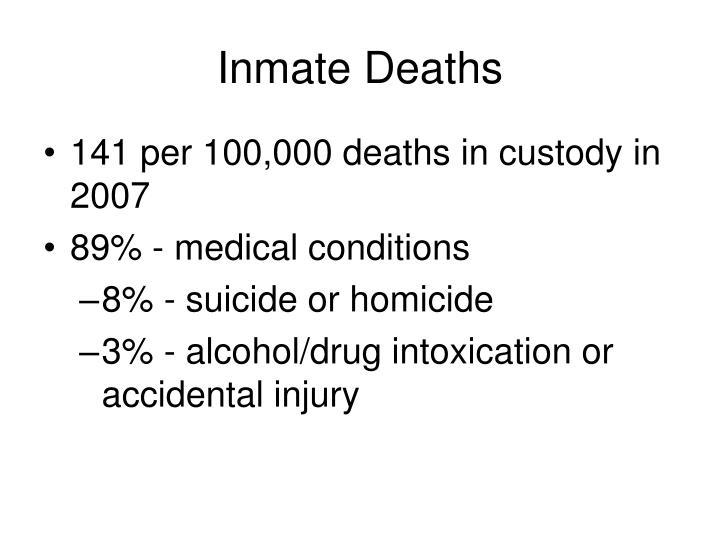 Inmate Deaths
