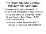 the prison industrial complex politically well connected