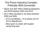 the prison industrial complex politically well connected1