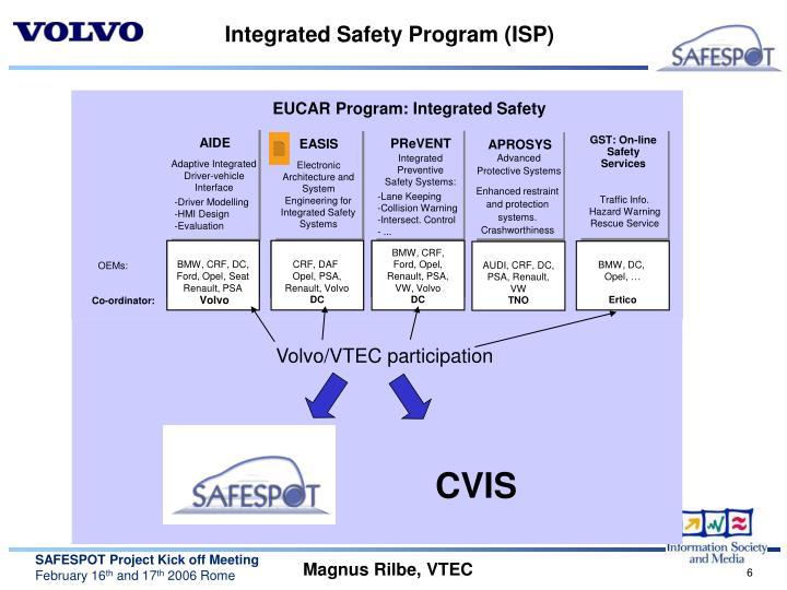 Integrated Safety Program (ISP)
