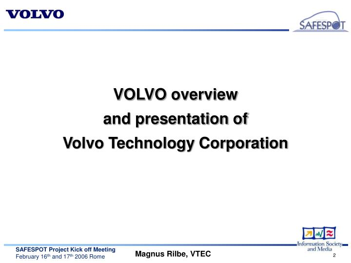 VOLVO overview