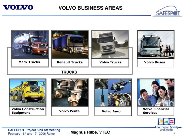 Volvo business areas