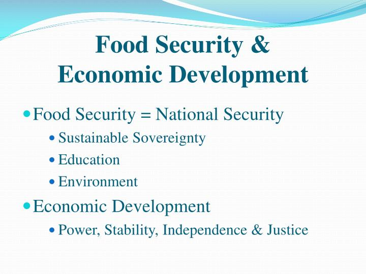 Food Security &