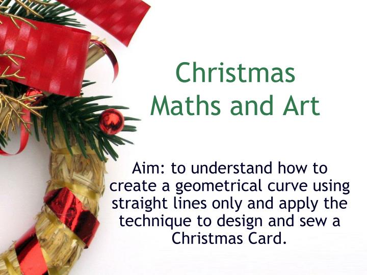 Christmas maths and art