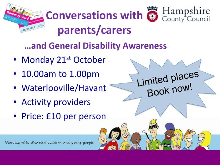 Conversations with parents/carers