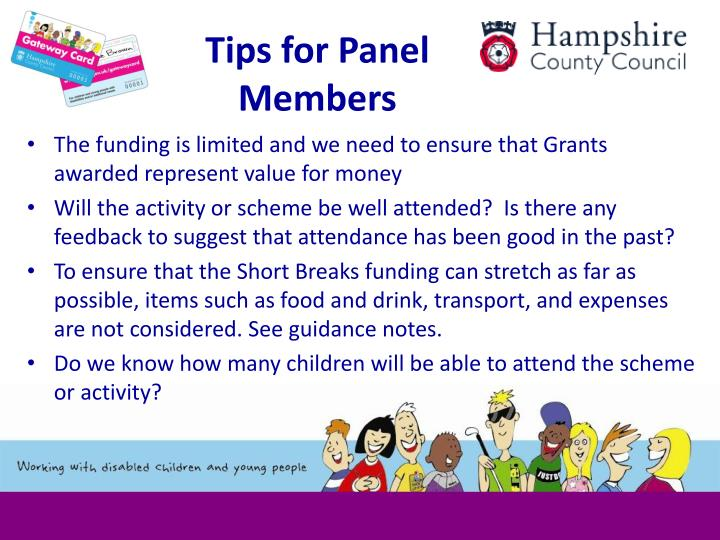 Tips for Panel