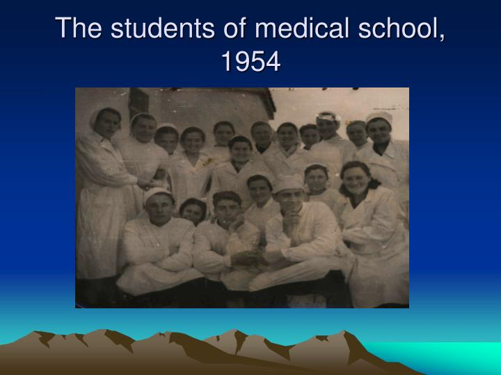 The students of medical school, 1954