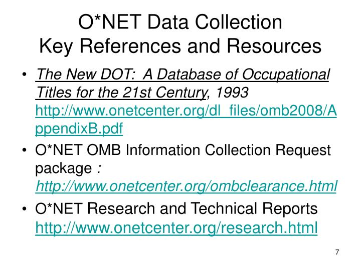 O*NET Data Collection