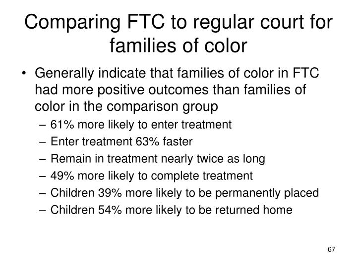 Comparing FTC to regular court for families of color