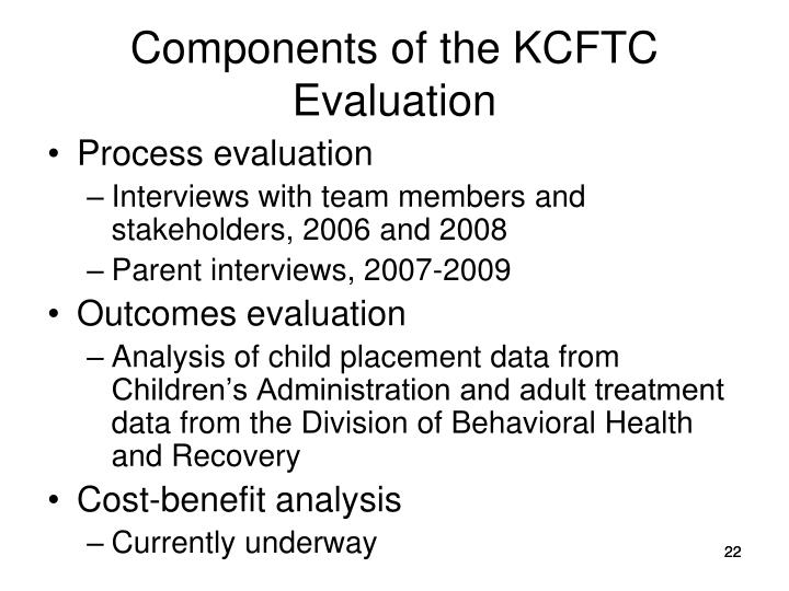 Components of the KCFTC Evaluation