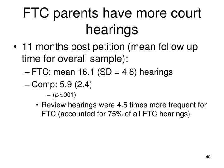 FTC parents have more court hearings