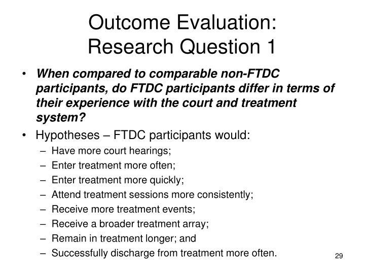 Outcome Evaluation: