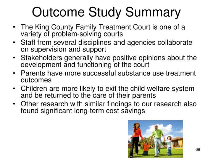 Outcome Study Summary