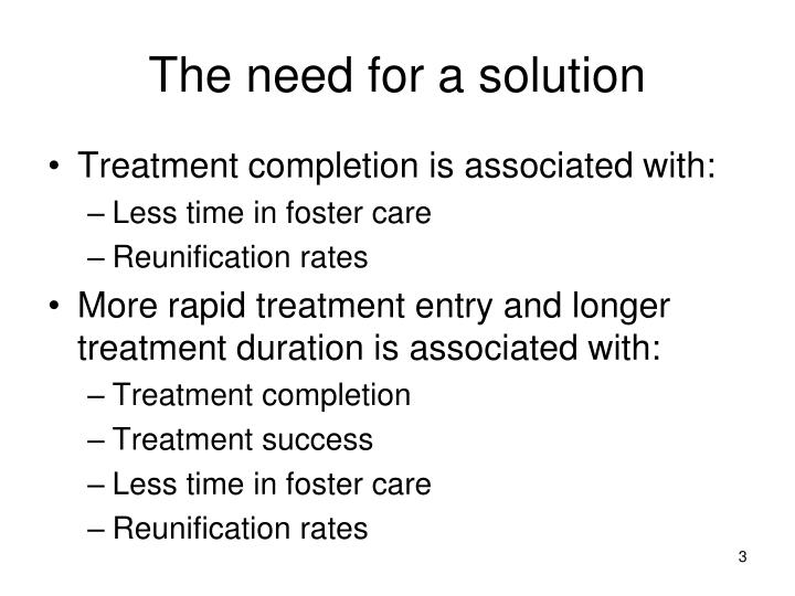 The need for a solution