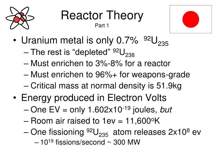 Reactor Theory