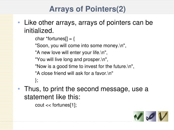 Arrays of Pointers(2)